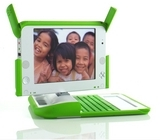 Picture of the Green OLPC XO